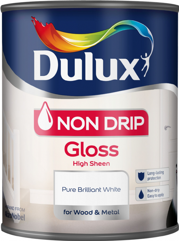 Dulux Non Drip Gloss Pure Brilliant White